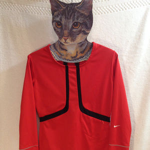 Mens Nike Pro Racing Cycle Sleeved Jersey Red SM
